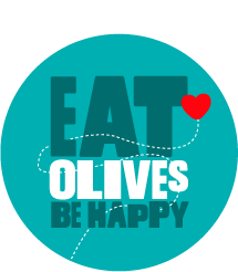 eat olives be happy roundal