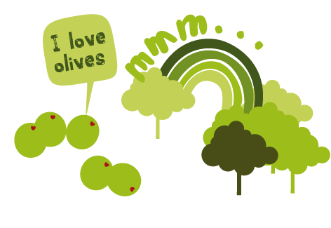 I love olives and tree image
